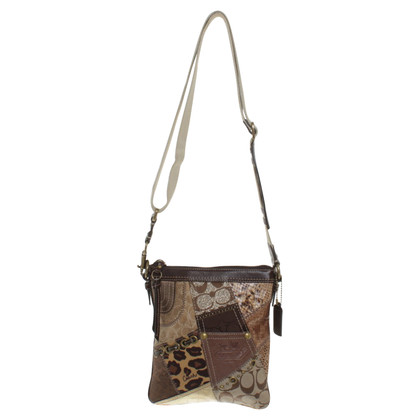 Coach Shoulder bag with patchwork pattern