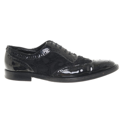 Dolce & Gabbana Patent leather lace-up shoes