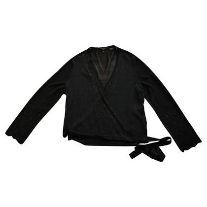 Escada Wrap blouse with rhinestone