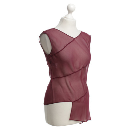 Alberta Ferretti Silk top in wine red