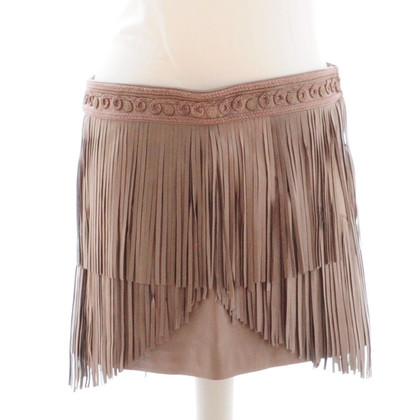Matthew Williamson Taupe leather skirt