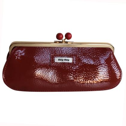 Miu Miu Red cosmetic bag
