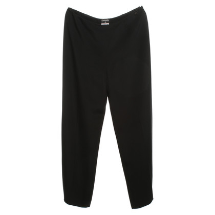 Chanel Pantaloni di seta in nero