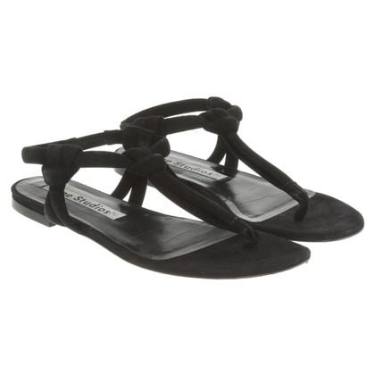 Acne Flip Flops in zwart