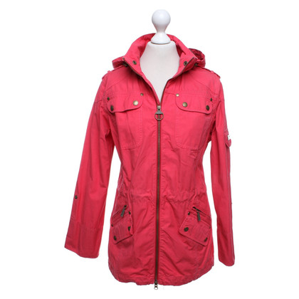 Barbour Jacket in red
