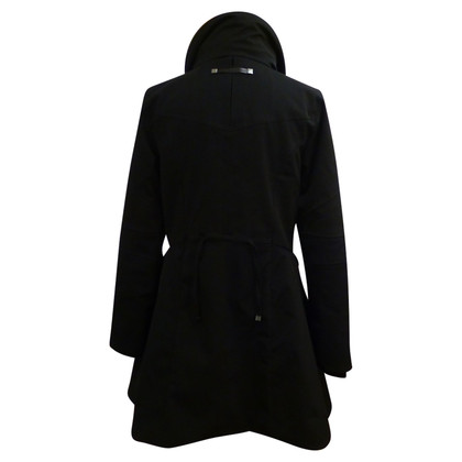 Marithé et Francois Girbaud Black coat with fur collar