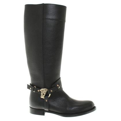 Versace Stiefel in Schwarz