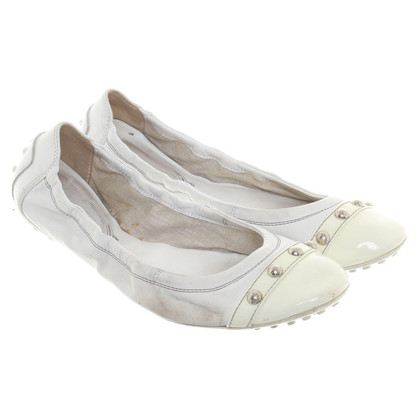 Tod's Ballerinas in White