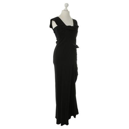 Jil Sander zijden jurk in zwart