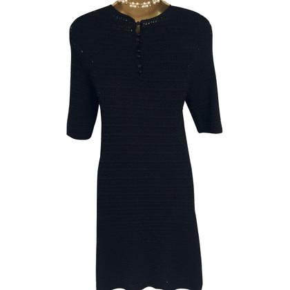 By Malene Birger Black Wool Crochet Dress