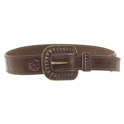 Post & Co riem in Bruin