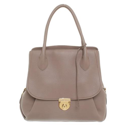 37d1c0be64 Salvatore Ferragamo Handbag Leather in Nude - Second Hand Salvatore ...