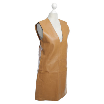By Malene Birger Leather dress in brown