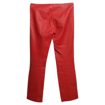 Miu Miu Leather pants in red
