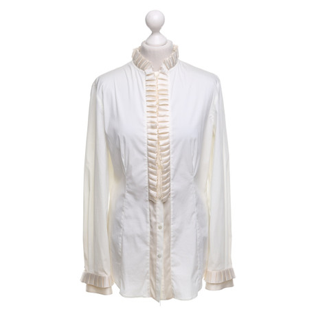 Outlet Mode-Stil Rabatt Amazon Dolce & Gabbana Bluse in Creme Creme Sat PilbJ