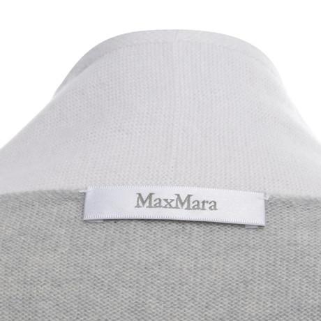 Max Mara Strickjacke in Grau/Creme Bunt / Muster Billig Verkauf Niedriger Preis Verkauf Der Billigsten RXKmYfrf