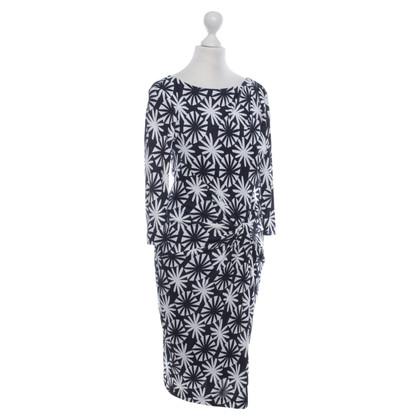 Laurèl Dress in Blue / White