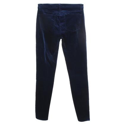J Brand pantaloni di velluto in blu scuro