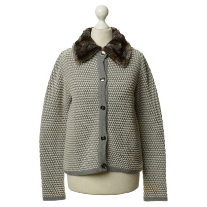 Max Mara Cardigan with faux fur collar