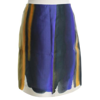 Céline Silk skirt with pattern