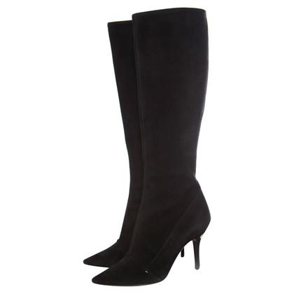Louis Vuitton zwarte suède laarzen