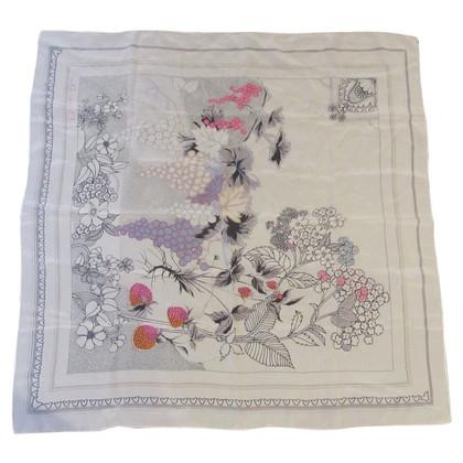 Christian Dior sciarpa di seta bianca