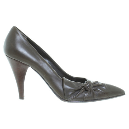 Jil Sander Pumps in Oliv