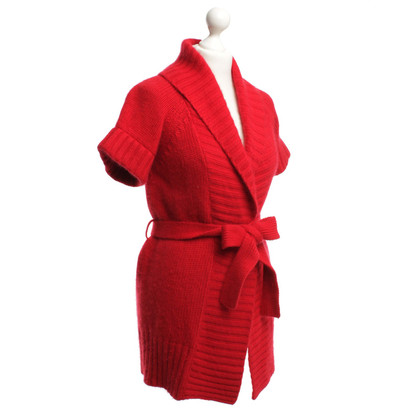 Escada Knit Cardigan in red