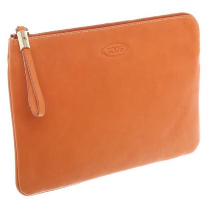 Tod's clutch a Orange