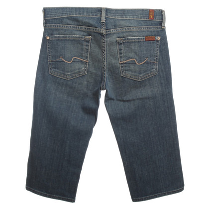 7 For All Mankind Bermuda jeans in blue