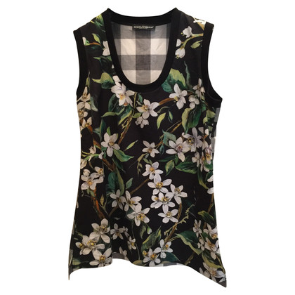 Dolce & Gabbana Top with flower pattern