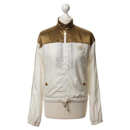 Chanel Lichte jas in goud en wit