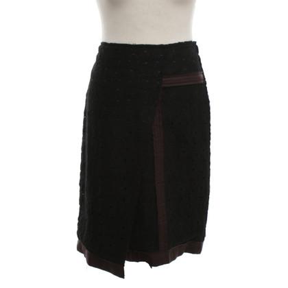 Bottega Veneta skirt in black / brown