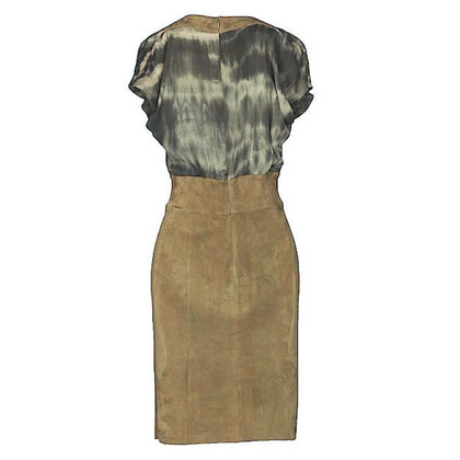 Jitrois Kleid aus Seide/Wildleder