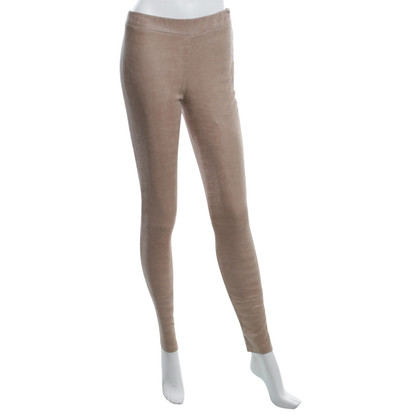 Arma Lamsleer leggings in Beige