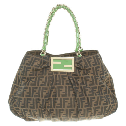 Fendi Handbag with Zucca pattern