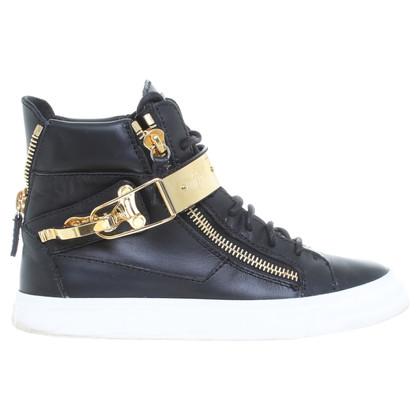 Giuseppe Zanotti Sneakers in Schwarz