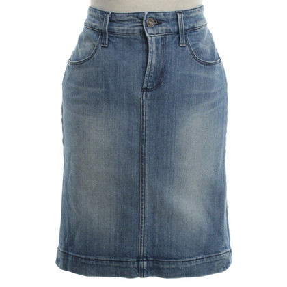 7 For All Mankind Denim skirt with wash