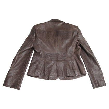 Hugo Boss Hugo Boss Brown lambskin leather Blazer