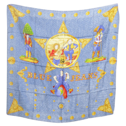 Versace Silk cloth in blue / yellow
