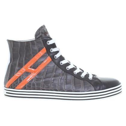 Hogan Sneakers con goffratura di rettile