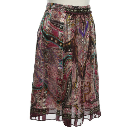 Etro Silk skirt with colorful pattern