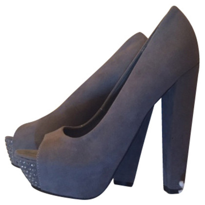 Kurt Geiger Grey peep with great heels