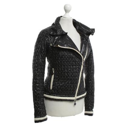 Moncler Jacket in dark blue / cream