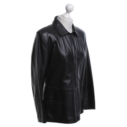 Versace Leather jacket in black