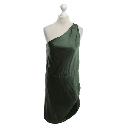 Halston Heritage One-shoulder dress in green