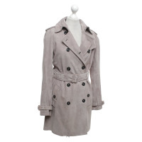 Burberry Velor leather trench coat