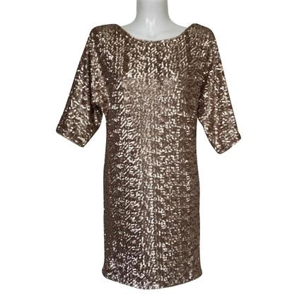Rachel Zoe robe de paillettes dorée