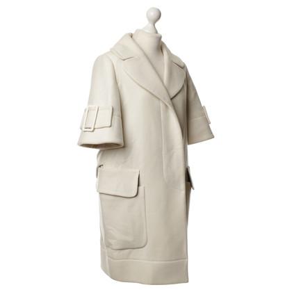 Paule Ka Short sleeve coat beige