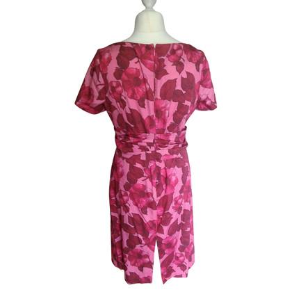 Talbot Runhof Bloem jurk met draperen